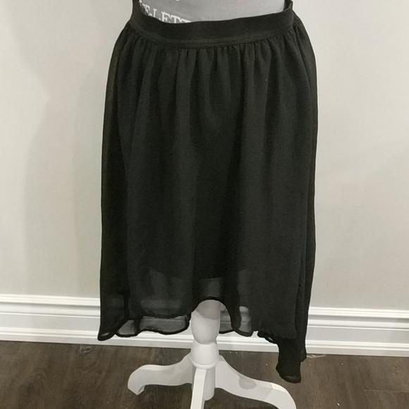 High low half lined elastic waist skirt